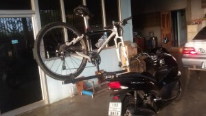bicycle rack on motorcycle 1