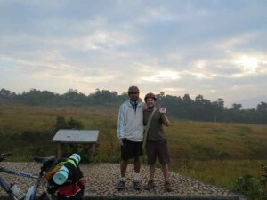 Author with friend in Khao Yai.