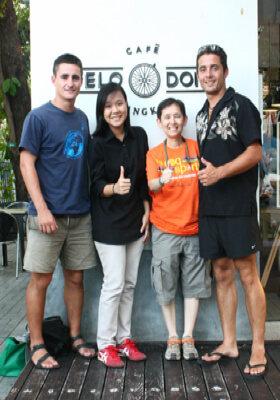 Left to Right: Brian, Khun Gig, Kris and Morgan
