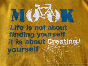Good Mook Cafe bicycle Tshirt desgn