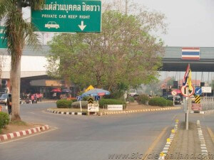 Friendship bridge border crossing - Thai side at Nong Khai