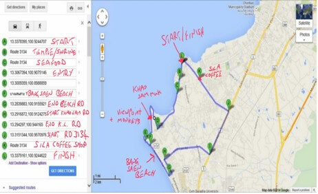Waypoints on Map