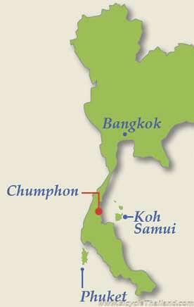 Chumphon map