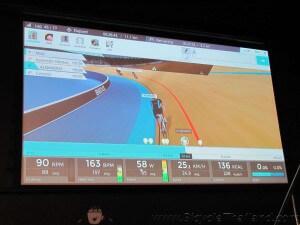 BKOOL Cafe BKOOL racing up on the big screen