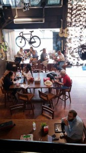 BKOOL Cafe customers in dining area