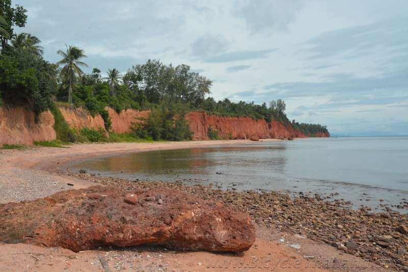 The red soil beach of Ban Fang Daeng