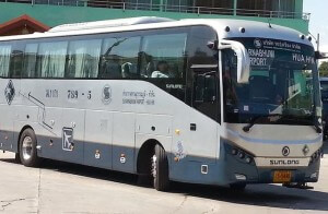 Private company tour bus in Thailand