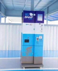 SNAP bracelet registration kiosk