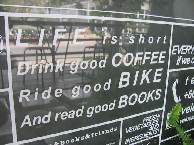 Velo Cafe at Hua Hin Life is short