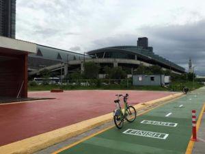Bicycle Path at Bangkok Airport Rail Link Makkasan Station 5